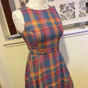 ModCloth Plaid Dress